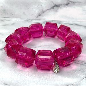 Tarina Tarantino Pink Classic Lucite Bracelet LG